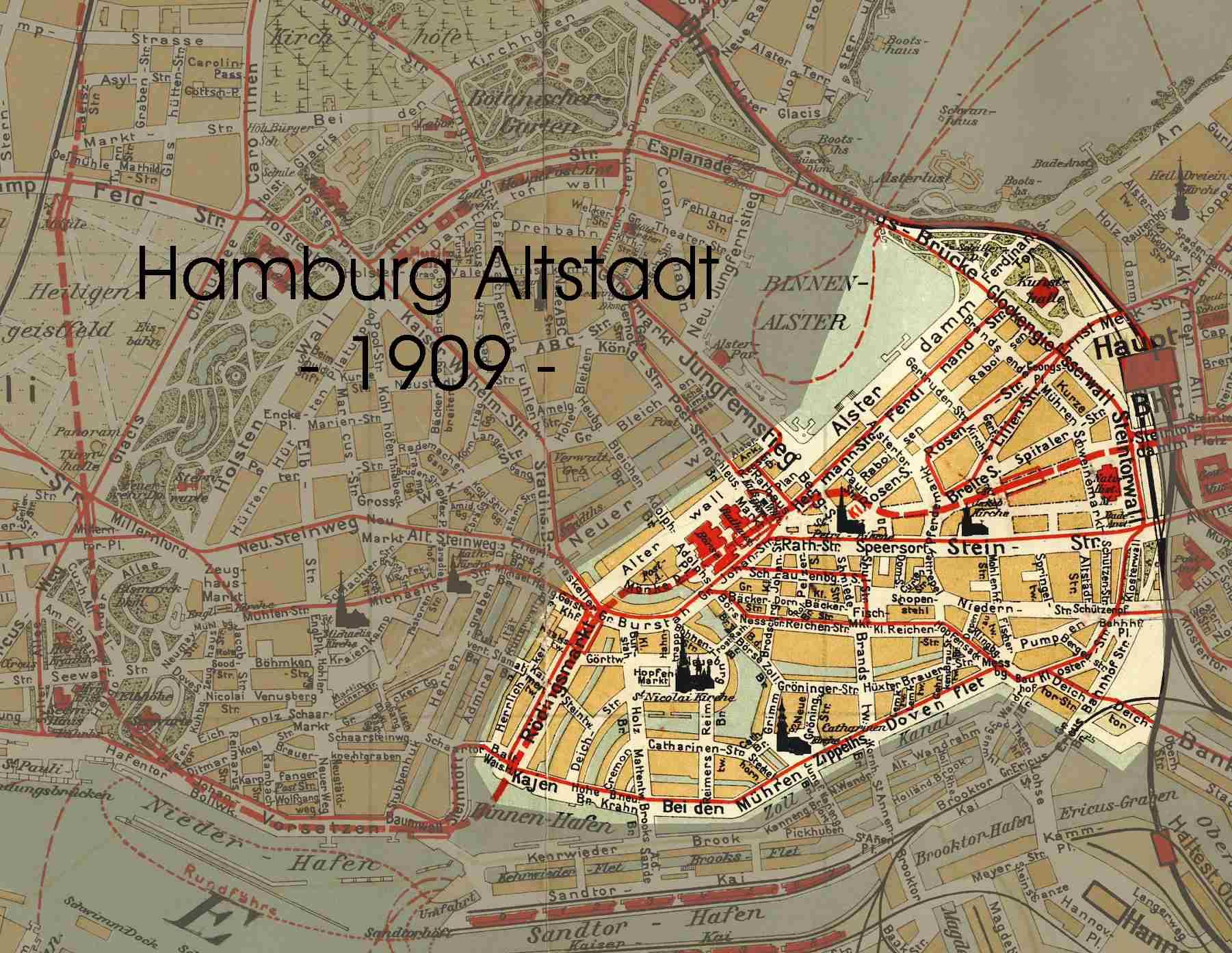 altstadt hamburg karte Hamburg   Altstadt